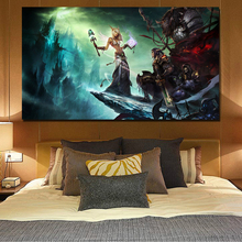 World Of Warcraftes Female Sky Canvas Painting Prints Bedroom Home Decor Modern Wall Art Oil Painting Posters Pictures Framework