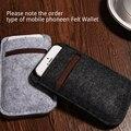 Feltro de lã saco do telefone carteira para samsung galaxy note5 case para galaxy note4, sacos de sacos de telefone celular casos note3 n9000 case cobrir