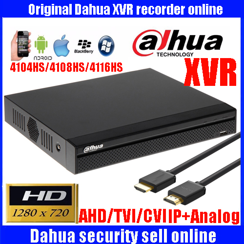 Dahua mutil languag XVR video recorder XVR4104HS XVR4108HS XVR4116HS 4ch 8ch 16ch 720P dvr Support HDCVI/ AHD/TVI/CVBS/IP Camera