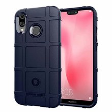 Rugged Shield Airbag Shockproof Armor Phone Case for Huawei Nova 3E Ultra thick Rubber Matte coque 4