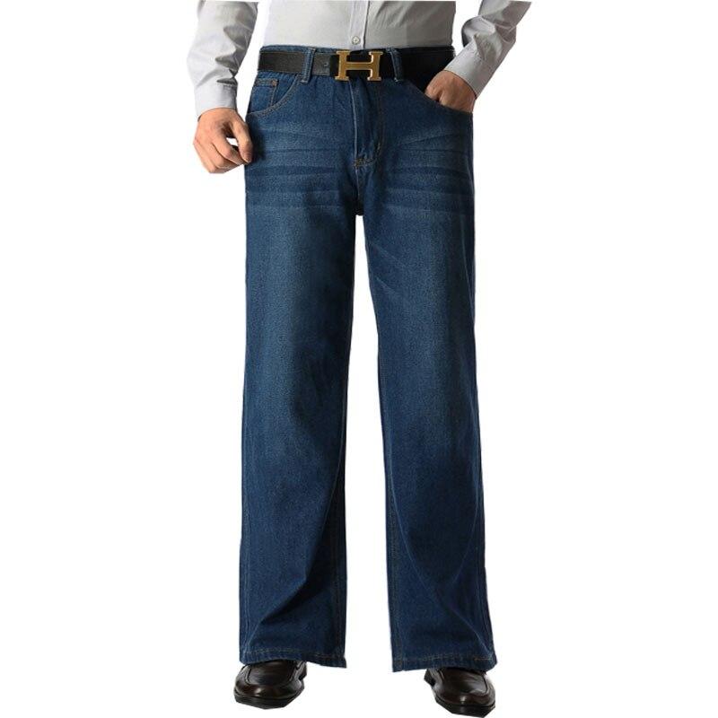 ba8c5c4ab Marca Mens Boot Cut Perna Queimado Queimado Calça Jeans Solta Cintura Alta  Designer masculino Clássico Denim Jeans Calças Fundo Sino Calça Jeans Azul  ...