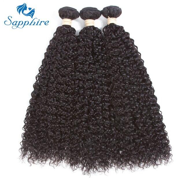 Sapphire Keriting Keriting Remy Rambut 3 Kumpulan Jauh Curly Rambut Manusia  100 Malaysia Remy Rambut Manusia fa240e6e17