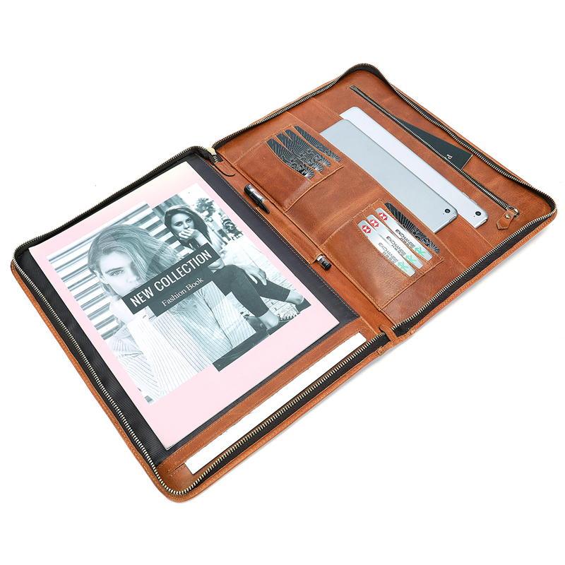 Bolso de mano MVA para hombres bolso de cuero para documentos A4 carpeta de archivos bolsas hombre embrague tarjetero hombres bolsos Cartera de almacenamiento monedero 8704 - 4