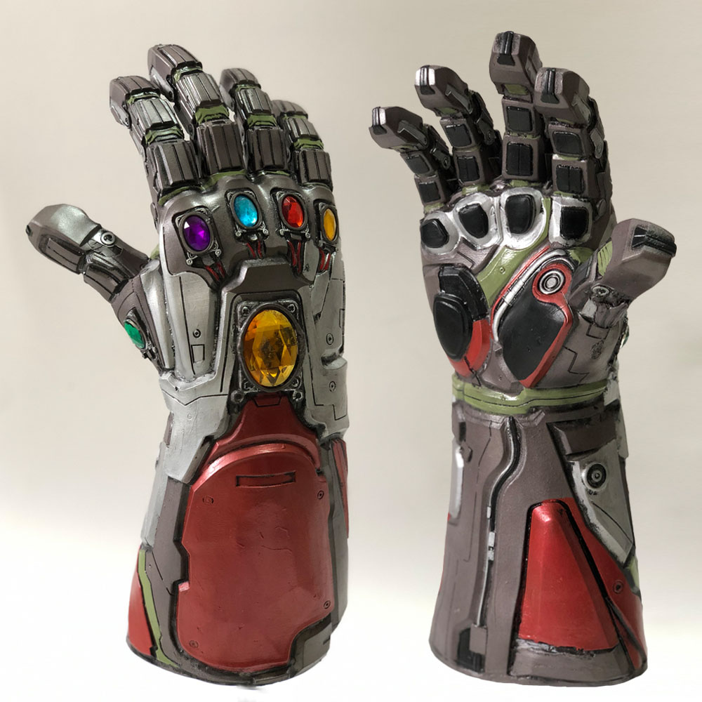 Avengers 4 Endgame Iron Man Infinity Gauntlet Hulk Cosplay Arm Thanos Latex Gloves Arms Mask Marvel Superhero Weapon Party Props(China)