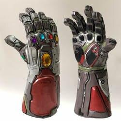 Мстители 4 Endgame Железный человек Бесконечность Gauntlet Халк Косплей рука танос латексные перчатки руки маска Marvel супергерой оружие реквизит