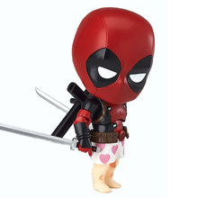 Deadpool Wade Winston 100mm PVC Action Figure Orechan Editio Nendoroid Anime Deadpool x-men Collectible Toy Modelo de Super-heróis(China)