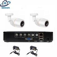 SSICON 4CH AHD видеонаблюдения DVR Системы 2 шт. 2MP 1080 P Fisheye 180 градусов CCTV Камера Водонепроницаемый Камера видео комплект видеонаблюдения