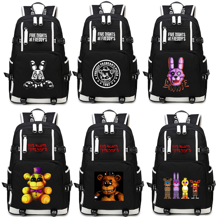 Five Nights at Freddy's Backpack Cosplay Bear Anime Canvas Bag Luminous Schoolbag Travel Bags