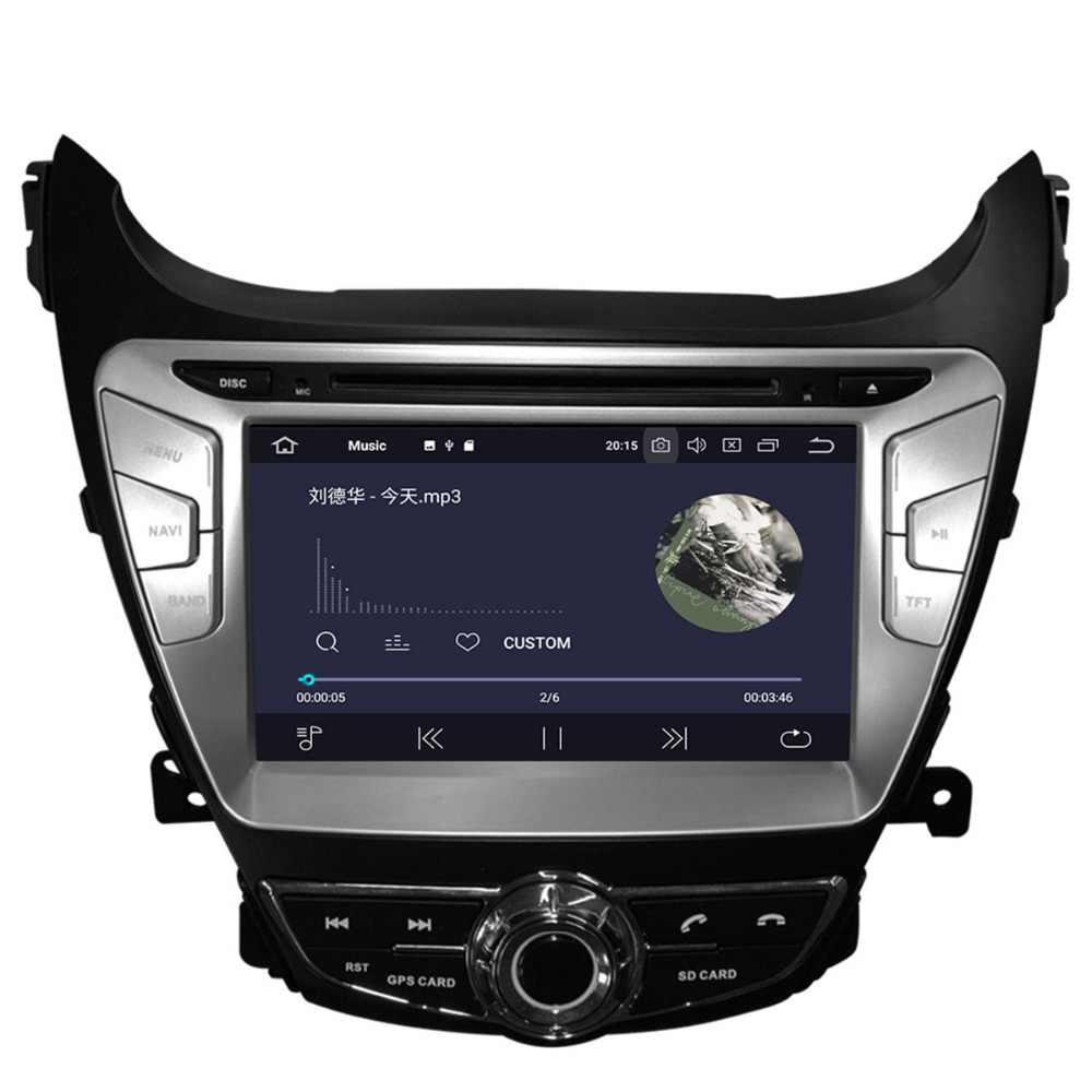 Aotsr أندرويد 9.0 نظام تحديد المواقع والملاحة سيارة مشغل ديفيدي لشركة هيونداي إلنترا 2011-2013 الوسائط المتعددة 2 الدين راديو مسجل 4GB + 32GB 2GB + 16GB