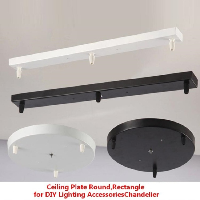 240mm Round,30 100cm Rectangle Black,White metal painted Ceiling ...