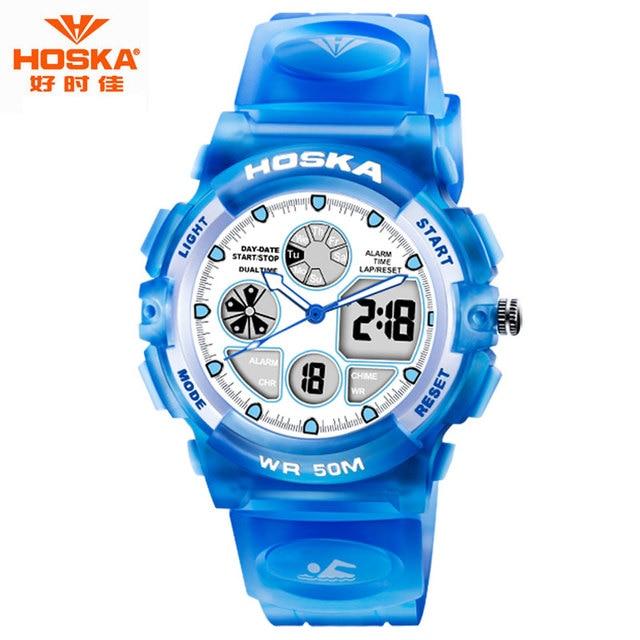 Watch Women Brand 2017 HOSKA Outdoor Hiking Equipment FOAMPOSITE Shockproof Waterproof Digital-Watch relojes deportivos HD003