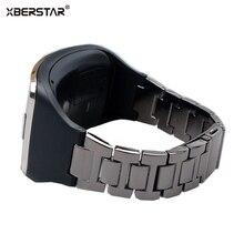 Браслет из нержавеющей Стали Браслеты Ремень + ТПУ Держатель для Samsung Galaxy Gear S SM-R750 Smart Watch