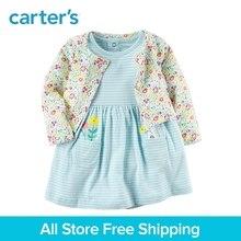 Carter's 2-Piece baby children kids clothing Girl Spring & Summer Cotton Bodysuit Dress & Printed Cardigan Set 121I184