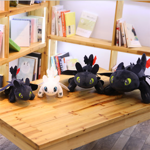 25-60CM black toothless white toothless filling doll plush pillow toy girl creative birthday gift girl play house toy