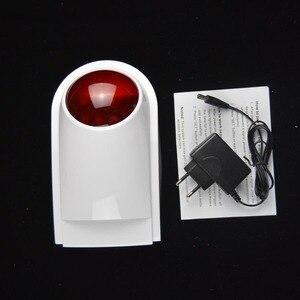Image 2 - 433MHz Draadloze Strobe Sirene Licht Alarm Outdoor Waterdicht Alleen Voor G4/W123/PG103/W2B Wifi GSM alarmsysteem