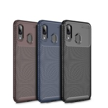 Cocose For Samsung Galaxy A10/a20 A30 A40 A50 A60 A70 A20e A2 Core Case Carbon Fiber Silicone Soft Tpu Shockproof Back Cover cover for samsung galaxy a10 a20 a30 a40 a50 a60 a70 2019 silicone shockproof phone case luxury armor back cover ring stand case