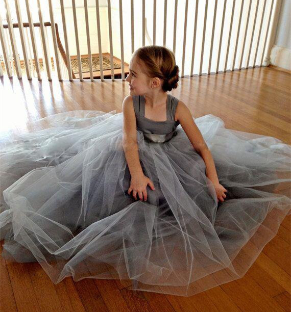 New Flower Girl Dress with Bow Ball Gown Party Dress Pageant Gown for Little Girls Kids Children Dress for Wedding 4pcs new for ball uff bes m18mg noc80b s04g