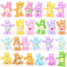 24 шт./компл. 4 см аниме Kawaii заботливые мишки медведь лучшие детские игрушки для мальчиков и девочек ПВХ экшн статуэтки коллекционные модели игрушки куклы