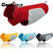 Dog Clothes Pet Jacket Thickening Soft Fleece Wear Both Size for Dogs Winter Warm Coat CoolPaw