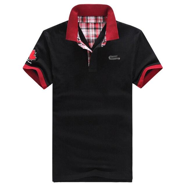 Классический коротким рукавом slim-подходят мужские рубашки поло 5 цвет лоскутное отложным воротником хлопок марка одежды сплошной поло-мужчин