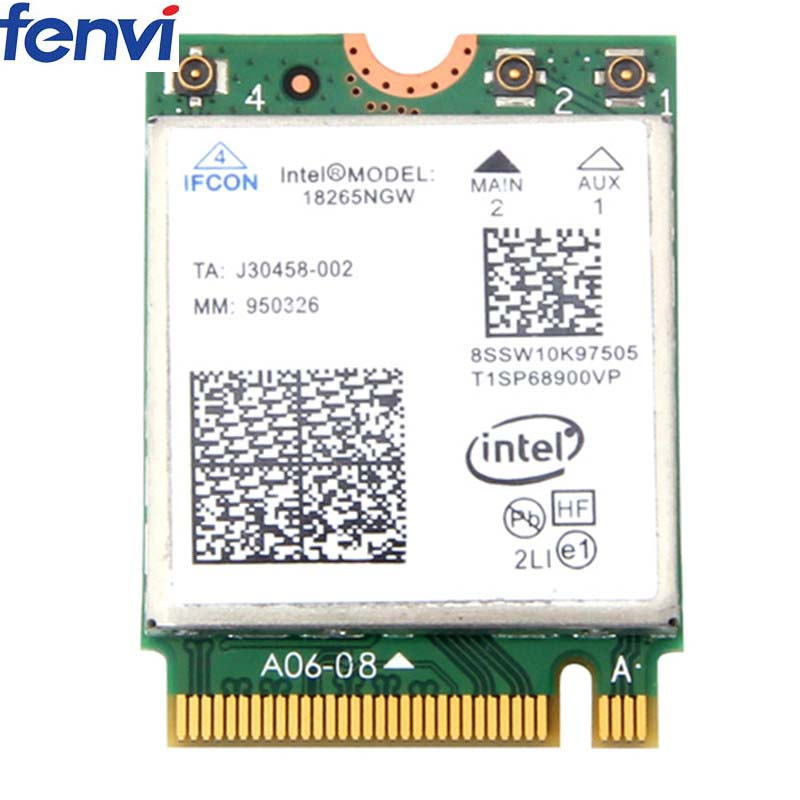 Wireless Wifi Adapter Tri-Band Intel Wireless-AC 18265 With Intel 18265NGW Bluetooth 4.2 Dual Band 2.4GHz5GHz 867Mbps For Laptop