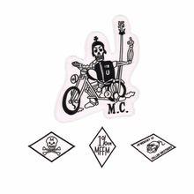 Os remendos da motocicleta dos remendos do motociclista de mongols para a roupa bordaram o ferro em remendos