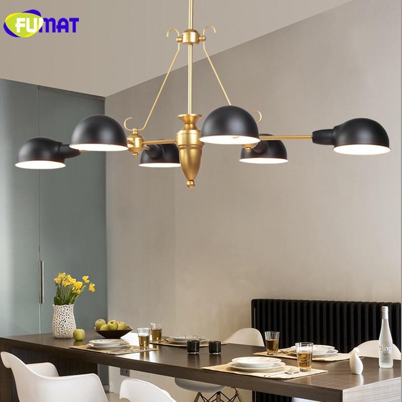 US $295.0 |FUMAT Chandeliers Modern Living Room Hanging Lamps Nordic Study  Light Bedroom Dinning Room LED Chandelier Lamps Black-in Chandeliers from  ...