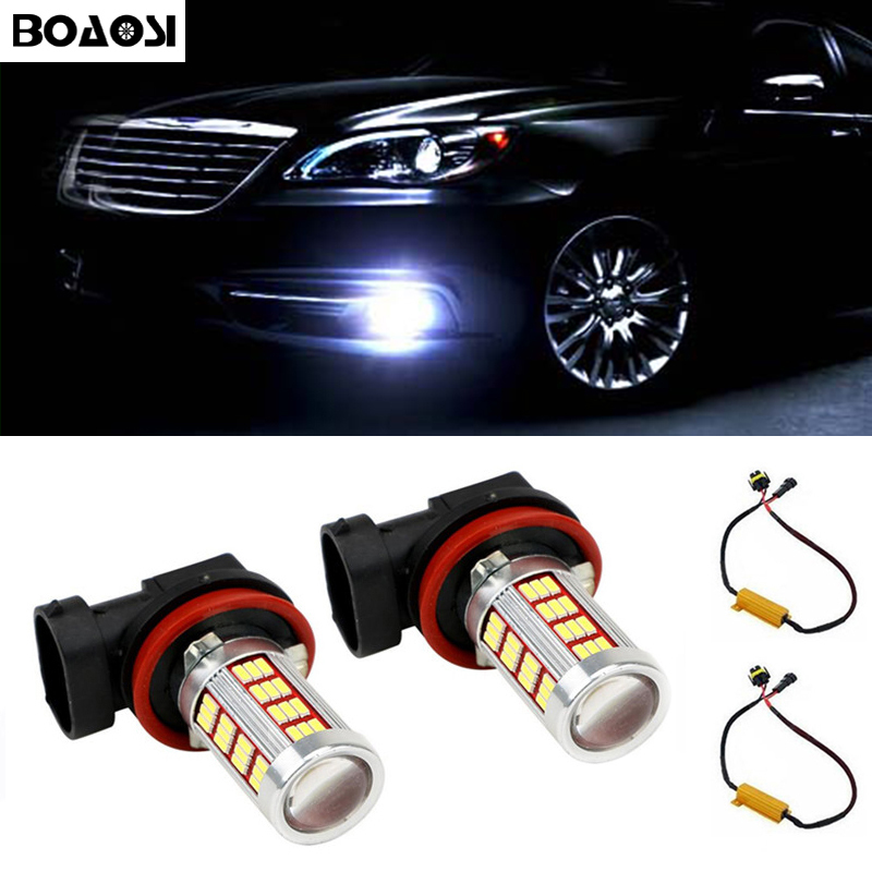 2x Car Led H8 H11 Light Bulb Auto Fog Light Driving Lamp Light No Error For Mercedes Benz W211 W212 W164 W221 2x white canbus led door courtesy footwell vanity mirror trunk lights for mercedes w204 w212 w207 w221 w216 r230 w251 w164 w463