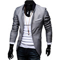 2016 New Arrival! Men's Fashion Slim Stylish Fit Blazer, Male Casual Suit Dress Clothing, Plus Size 4XL