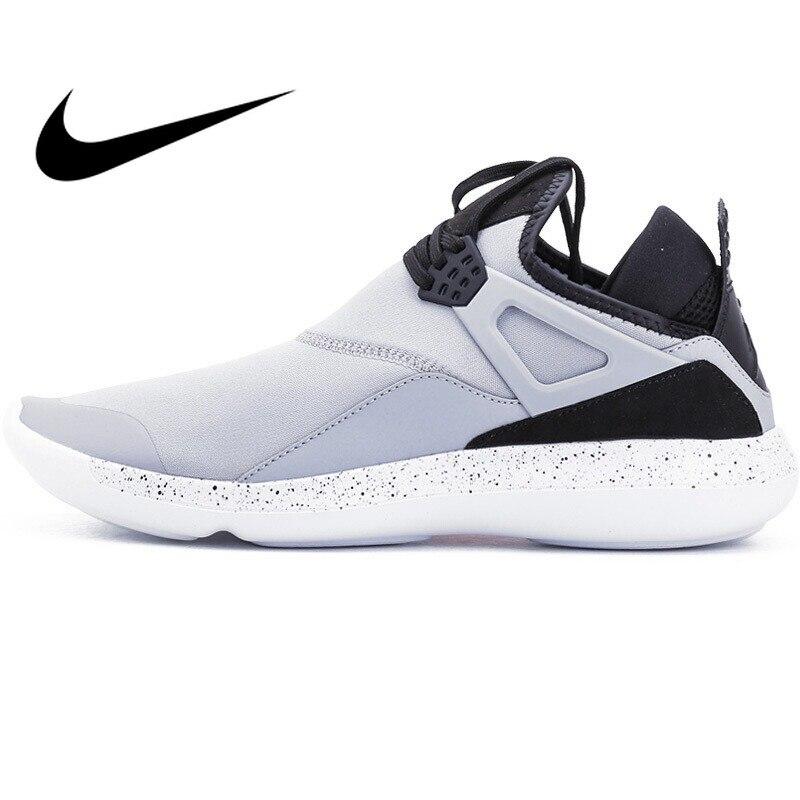 D'origine NIKE FLY Hommes chaussures de basket En Plein Air de Sport Athlétisme Officielle Respirant coupe-Bas Sneakers Hommes Air Jordan Chaussures
