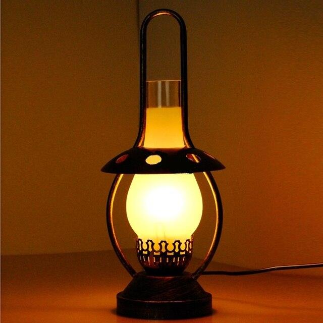 European kerosene lantern table lamps iron retro night light european kerosene lantern table lamps iron retro night light coffee shop inn warm feeling new lamp aloadofball Images