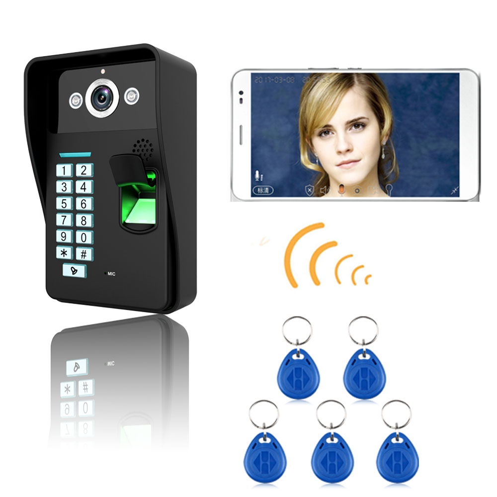 HD 720P Wireless WIFI RFID Password Video Door Phone Doorbell Intercom System Night Vision Waterproof Access Control System