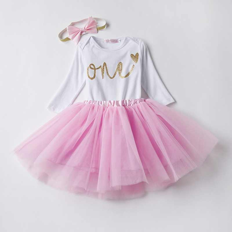 It's My 1st Birthday Baby Dress Kid's Wear Newborn Baby Girl Clothes Toddler Girls Baptism One Year Outfits Dress Roupa Infantil