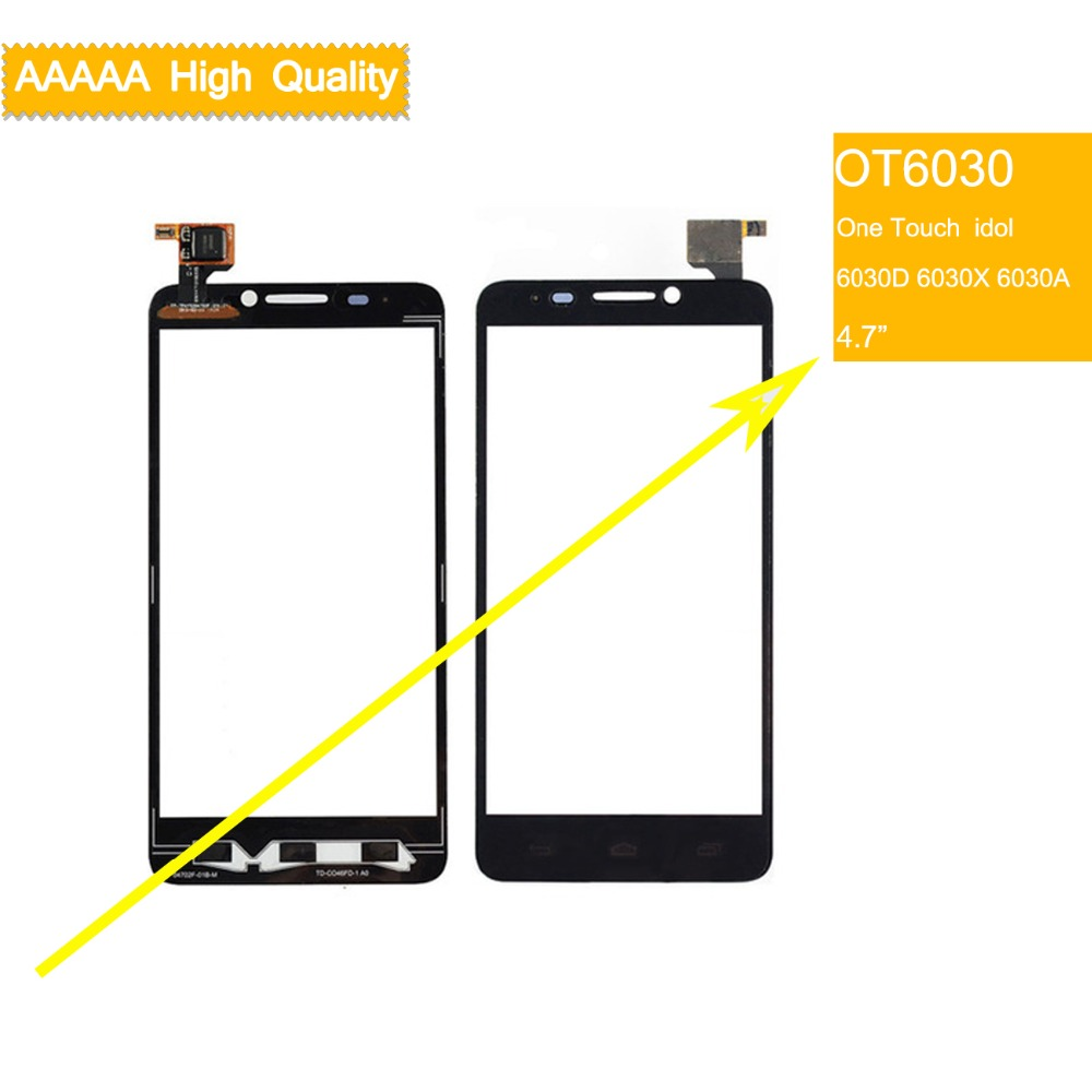 10pcs/lot touch screen For Alcatel One Touch  idol 6030 6030d 6030x 6030a ot6030 TouchScreen Sensor Digitizer Glass Front Panel10pcs/lot touch screen For Alcatel One Touch  idol 6030 6030d 6030x 6030a ot6030 TouchScreen Sensor Digitizer Glass Front Panel