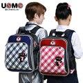 UNME высокого класса рюкзак первичная средний и младший школьный Большой емкости сумка для мальчиков и девочек