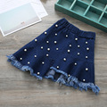 Wholesale 5pcs/lot Girls Irregular Beaded Denim Skirt,kids Girl Jeans Skirts Free Ship