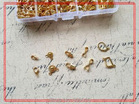 ( Gold Clasps & Hooks ) 490Pcs/Set Mix 10 Styles Gold Plated Jewelry Hooks Clasps Jewelry Findings & Accessories
