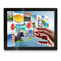 17 polegada do monitor lcd/display vga/hdmi/interface usb concha de metal tela capacitiva multi toque de controle industrial embutido