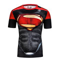Fashion summer superman t-shirt mens cool casual style short sleeve round neck superman t-shirts personalized batman shirts