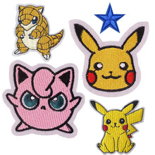 2019 Pikachu Eevee Starters Pokeball INSPIRED Cartoon Embroidered iron on patches applique badge emblem Costume Cosplay DIY