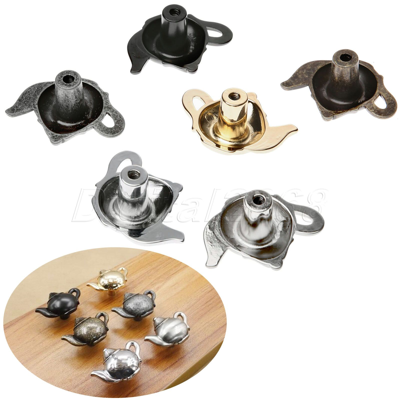 high qualty zinc alloy vintage teapot teakettle kitchen alloy door handles cabinet cupboard knobs pull
