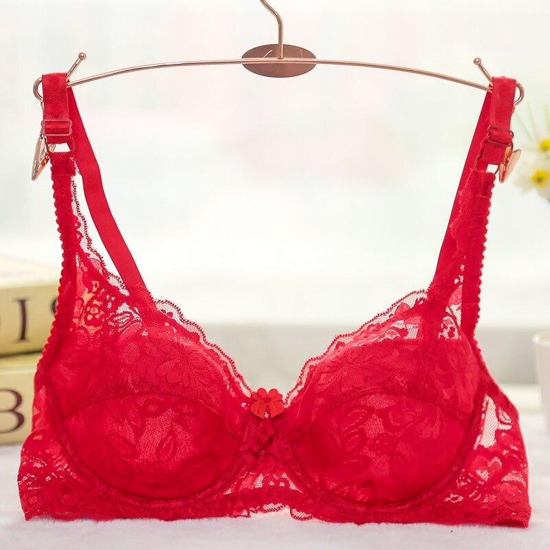 Sexy Lace Bra Women Push Up Bra Modis Lingerie Porno Plus Size Bras For Women New Adjustable Women Brassiere Soutien Gorge in Bras from Underwear Sleepwears