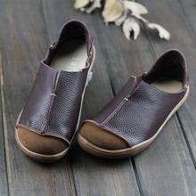 (35-42) buty damskie Plus Size płaskie buty ze skóry naturalnej Casual wkładane mokasyny damskie mokasyny w dziewczęcym stylu mori (5188-1) tanie tanio Dla dorosłych Mieszkania Prawdziwej skóry Gumowe Slip-on Skóra bydlęca IMTER Szycia Okrągły nosek Na co dzień Wiosna jesień