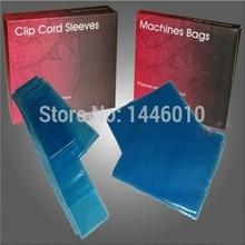 Lowest 125Pcs Tattoo Clip Cord Covers & 250Pcs Tattoo Machine Gun Bags Tattoo Kit Blue Color For