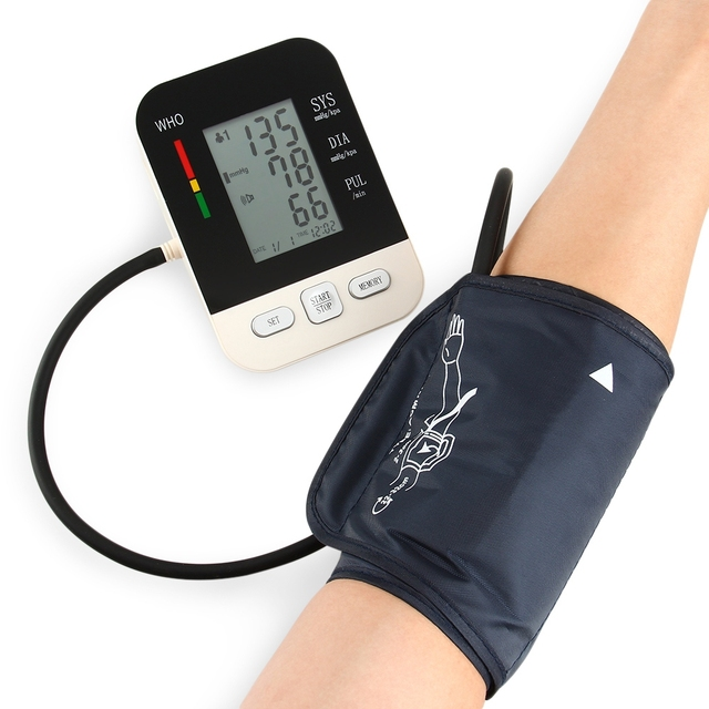 CHANGKUN Electric Voice Digital LCD Arm Blood Pressure Monitor Heart Beat Meter Machine Tonometer