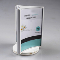 A6 3 Faced Countertop Stand Menu Sign Holder With Rotating Sign Frame For Pricelist Menu Signage