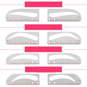 Image 4 - 1Set Verstelbare Positie Wenkbrauw Heerser Eye Brow Maatregel Balance Extension Heerser Vorm Stencil Tattoo Machine Template Praktijken
