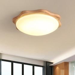 Nordic styl światło sufitowe oryginalne drewno panelu światła w kształcie kwiatu oprawy oświetleniowe LED salon hotelu lampa dekoracyjna oprawa w Oświetlenie sufitowe od Lampy i oświetlenie na