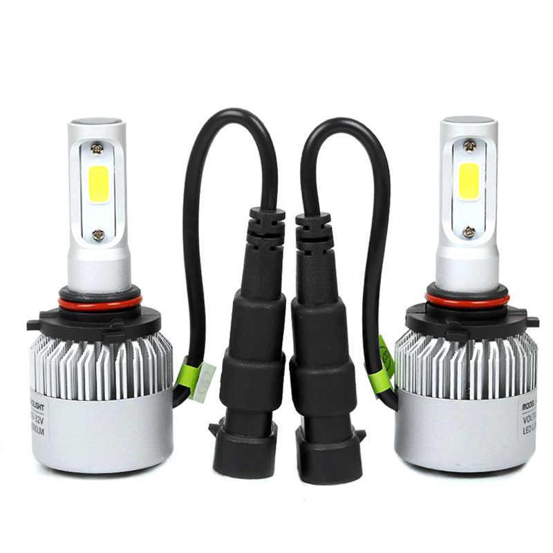Elglux 2pcs H4 H7 H11 9006 9005 COB LED Headlight Automobiles Light Fog Light 72W 6500K 8000LM Car Led Bulb Car Styling DC9-36V
