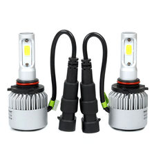 Elglux 2pcs H4 H7 H11 9006 9005 COB LED Headlight Automobiles Light Fog Light 72W 6500K 8000LM Car Led Bulb Car Styling DC9-36V(China)